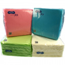 Napkins 100s 30x30 1 ply pastel colors