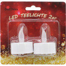 Tealight electric LED 2er 4cm each with battery