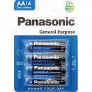 Battery Panasonic R6 Mignon AA Pack of 4 on card