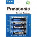 wholesale Batteries & Accumulators: Battery Panasonic R6 Mignon AA Pack of 4 on card