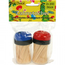 Toothpicks 2x200 pieces in dispenser box color so