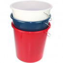 Bucket 10 liters with metal bracket for household
