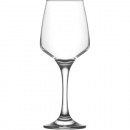 Glass wine glass 0,33 L clear, total height 20,5cm