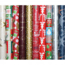 Gift paper 5mx70cm with Christmas motifs,