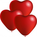 Balloons 3pcs heart shape 24cm diameter,