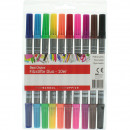 wholesale Gifts & Stationery: Felt pens 10 pcs. Thick + Thin, 16cm