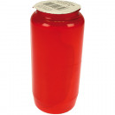 Grablicht oil light Nr 7 red 14 x 6cm