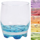 wholesale Drinking Glasses: Glass Coral juice glass 0,2l colored bottom 6-fold