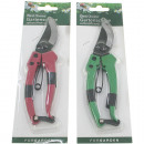 wholesale Garden & DIY store: Secateurs self-opening on card 19cm