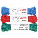 Clothesline 20m thicknesses and colors assorted te