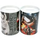 Großhandel Spardosen: Metall Spardose rund Star Wars 10 x 7,5cm sortiert