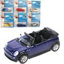 Car metal 1:60, 7x3x2,5cm 24 models assorted