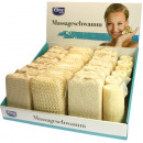 Spugna massaggio wellness Elina 16x10cm assortito