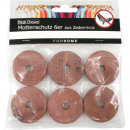 wholesale Decoration: Moth protection rings 6er from cedar wood 4 x 1 cm