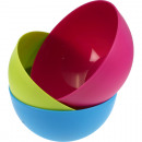 Bowl round 4l 24 x 13cm 3colours assorted