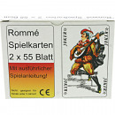 Playing cards Romme French picture 2x55 sheets