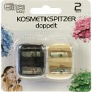 Kosmetik Spitzer 4cm 2er Set je 2 Größen, auf Kart