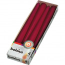 EIKA pointed candle set of 4 25x2,5cm bordeaux,