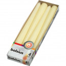 EIKA pointed candles set of 4 25x2,5cm champagne,