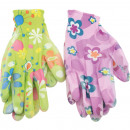 wholesale Garden & DIY store: Garden Gloves Ladies Flowermotives Latex