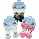Baby socks for up to 6 months, 12- times assorted