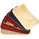 Doormat 50x30cm lined edge colors assorted