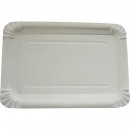 wholesale Gifts & Stationery: Party plate 10er 16x23cm white welded