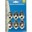 groothandel Huishouden & Keuken: Hook chroom zelfklevend 5cm set van 6 voor ...