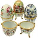 Dekoracyjne jaja rozwijać, porcelana mieszany desi