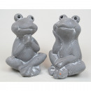 Frog in funny pose 9,5x7x7cm, 2 poses sortier