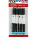 wholesale Pencils & Writing Instruments: Permanentmarker 4er black 13x1,5cm on card