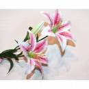 Flower tiger lily LUXUS XL 72cm with 2 large flowe