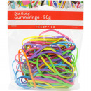 wholesale Kitchen Utensils: Gummiringe 50g Trendfarben assorted 3mm wide