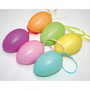 Easter eggs set of 6, in pastel colors