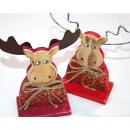 mayorista Casa y decoración: Elk XL divertida de madera con cuernos del metal
