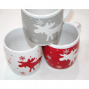 Coffee mug with great elk motif about 8x8cm,