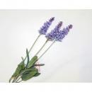 wholesale Artificial Flowers: Lavender Bouquet with 3 flowers 60x13cm, colors as