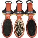 Hairbrush wood massage 22cm 3- times assorted
