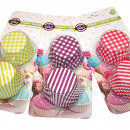 Großhandel Auflauf- und Backformen: Backformen Muffin 7,5x3,5cm in Trendfarben sortier