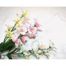 Großhandel Home & Living: Lilienstrauß 47cm mit 7 Köpfen 3 Farben sortiert
