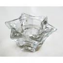 Gyertyatartó üveg Csillagok 8x4cm, hármas funkciót