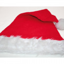 Christmas hat with wide fur edge 46x30cm,