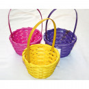 Bast basket with long handle
