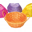 Bast basket with handles