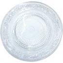 Großhandel Geschirr: Glasteller 22,5cm mit eingeprägter Stuktur