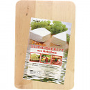 Kitchen cutting board Square 22x15x1cm made of woo