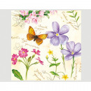 Großhandel Haushaltswaren: Servietten Premium 20er 33x33cm 3-lagig Butterfly