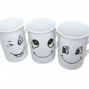 Kaffeebecher 265ml 10x7cm, WHITE SMILE-Design