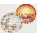 wholesale Party Items: Christmas plate in round shape set of 2! each 23cm