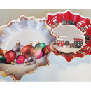 Christmas plate in star shape set of 2! each 30cm